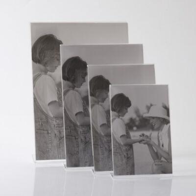 Plexi képtartó 13 x 18 cm - Álló