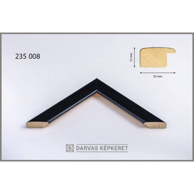 Fa képkeret 35 x 50 cm - Fekete