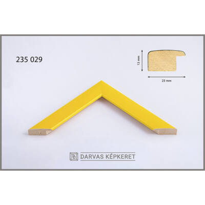 Fa képkeret 50 x 60 cm - Sárga