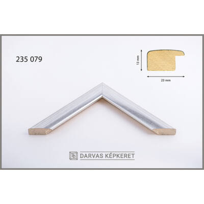Fa képkeret 28 x 35 cm - Ezüst