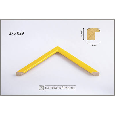 Fa képkeret 13 x 18 cm - Sárga