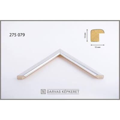 Fa képkeret 20 x 20 cm - Ezüst