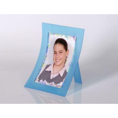 Kitámasztható plexi képtartó 10 x 15 cm - Kék