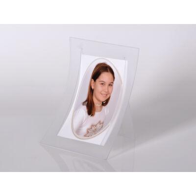 Kitámasztható plexi képtartó 10 x 15 cm - Áttetsző fehér