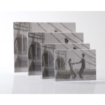 Plexi képtartó 13 x 18 cm - Fekvő