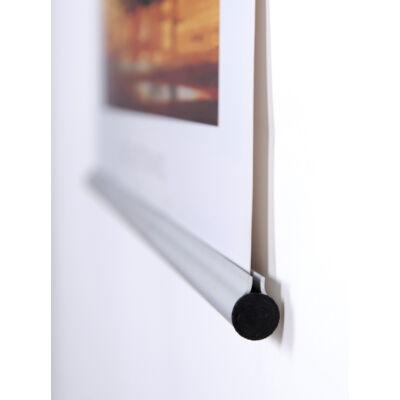 Fém posztertartó sín ezüst színben 90 cm-es