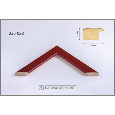 Fa képkeret 60 x 80 cm - Piros