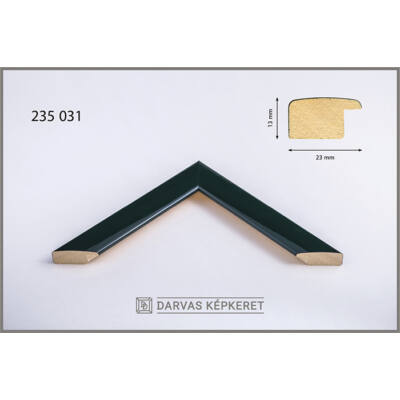 Fa képkeret 42 x 59,4 cm (A2) - Sötétzöld