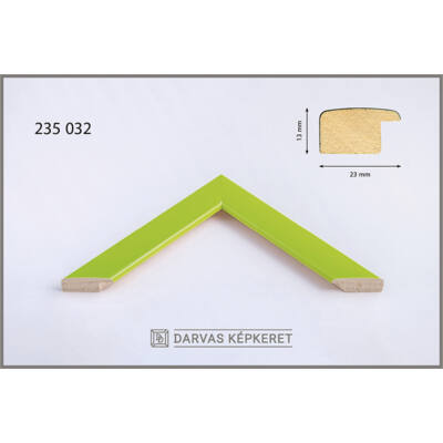 Fa képkeret 59,4 x 84,1 cm (A1) - Világoszöld