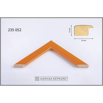 Fa képkeret 59,4 x 84,1 cm (A1) - Narancs
