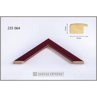 Fa képkeret 40 x 40 cm - Bordó