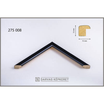 Fa képkeret 21 x 29,7 cm (A4) - Fekete