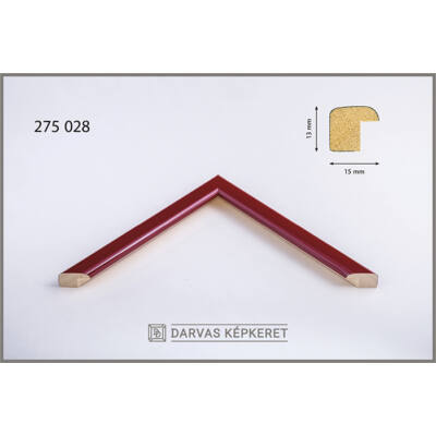 Fa képkeret 10 x 15 cm -  Piros