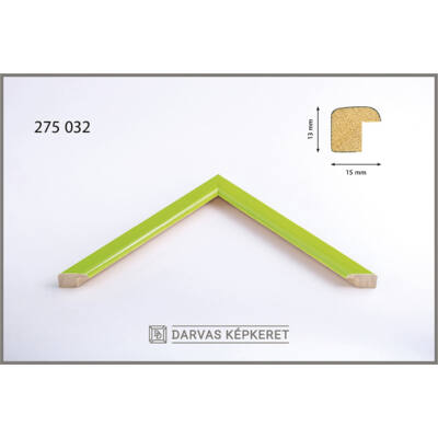 Fa képkeret 20 x 20 cm - Világoszöld