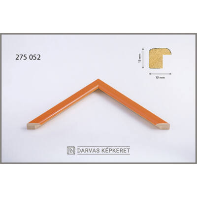 Fa képkeret 15 x 20 cm - Narancs