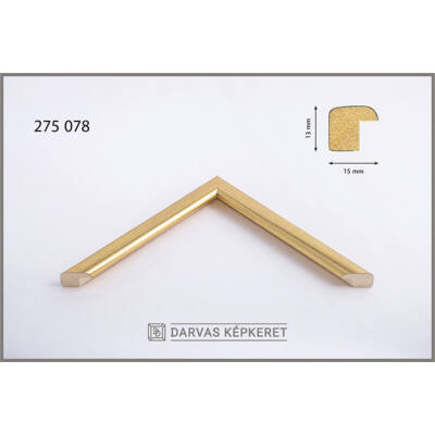 Fa képkeret 20 x 30 cm - Arany
