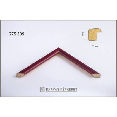 Fa képkeret 10 x 15 cm (TÖBB MÉRETBEN) -  Bordó