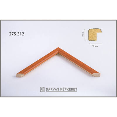 Fa képkeret 24 x 30 cm - Narancs